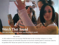 Watch That Sound in Kunstzone Magazine