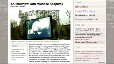 An interview with Michelle Kasprzak full text