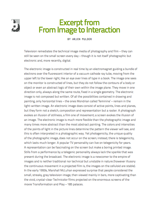 Excerpt Image to Interaction