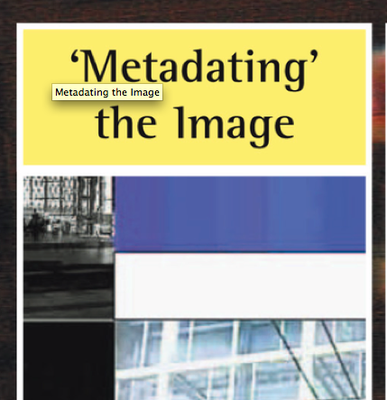 Metadating the Image