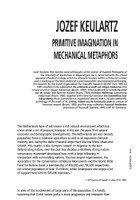 Primitive Imagination in Mechanical Metaphors
