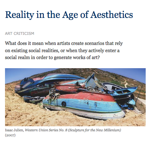Reality in the Age of Aesthetics
