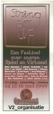 String 'em Up festival program