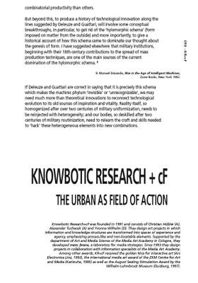 The Urban as a Field of Action
