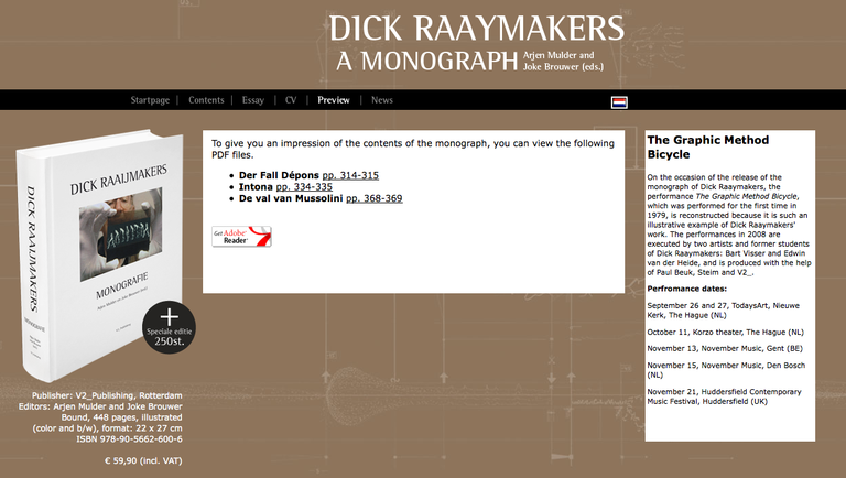 Three excerpts from Dick Raaijmakers' Monografie