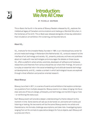 We Are All Crew Reader (Introduction)
