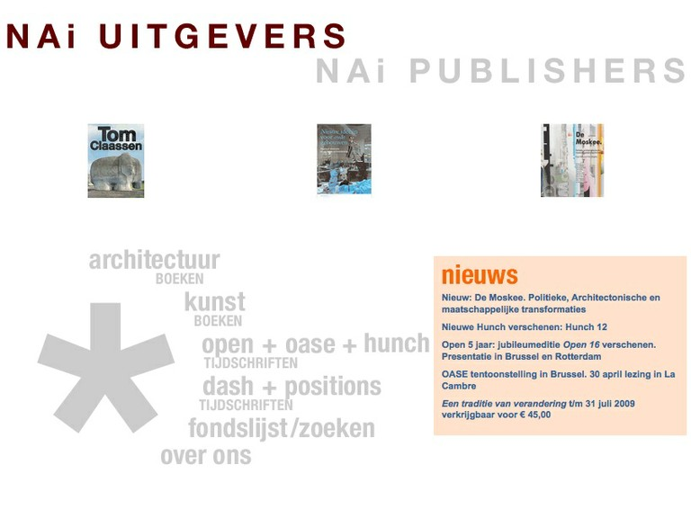 NAi Publishers — V2_Lab for the Unstable Media