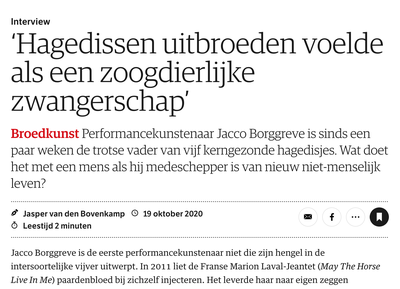 Interview with Jacco Borggreve in NRC