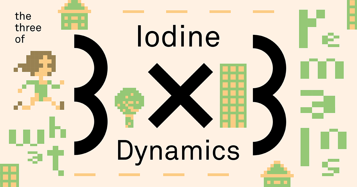 3x3: The Three of Iodine Dynamics I