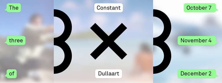 3X3: The Three of Constant Dullaart III (Kunstavond)