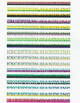 Exception Handling - PZi Graduation Show