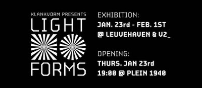 Klankvorm presents Lightforms: SVNSCRNS (Exhibition)