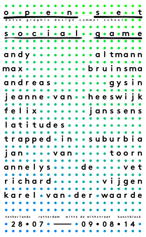 Open Set - Graphic Design Summer School in Rotterdam