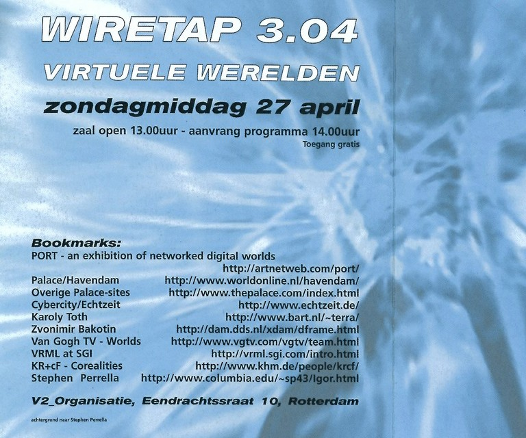 Wiretap 3.04 - Virtual Worlds