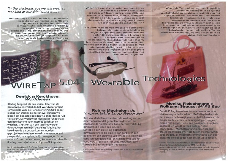 Wiretap 5.04 - Wearable Technologies