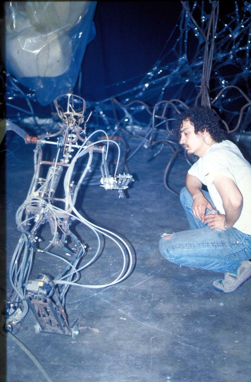 Chico MacMurtrie and Robot