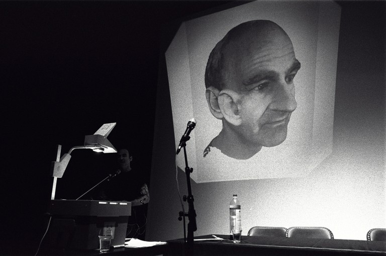 Lecture slide by Stelarc