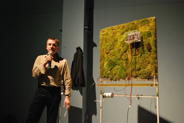 Thomas Munz introducing Acoustic Mirror_Moss