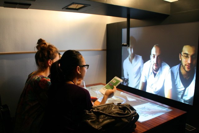 Audience using Telepresence Furniture
