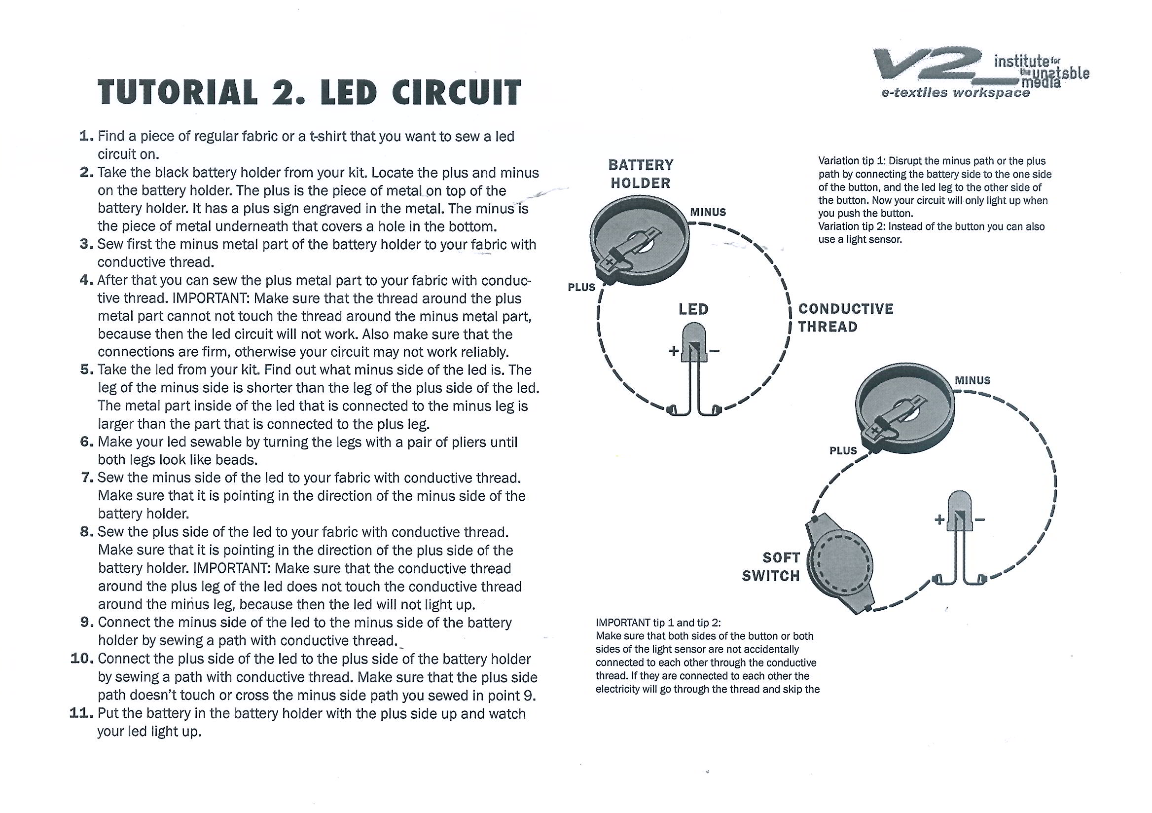 Simple Led Circuit With Switch Switch The Led On Circuit