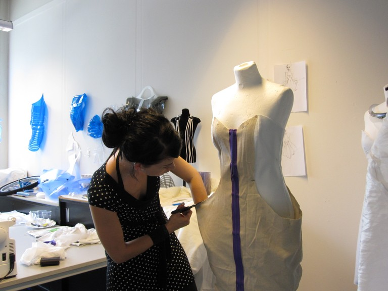 Anouk Wipprecht Working on the Dress
