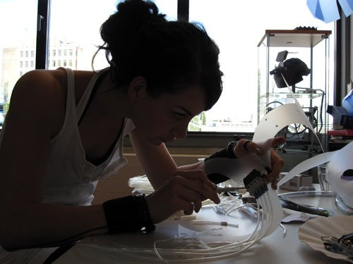 Anouk Wipprecht Working on the Chestpiece