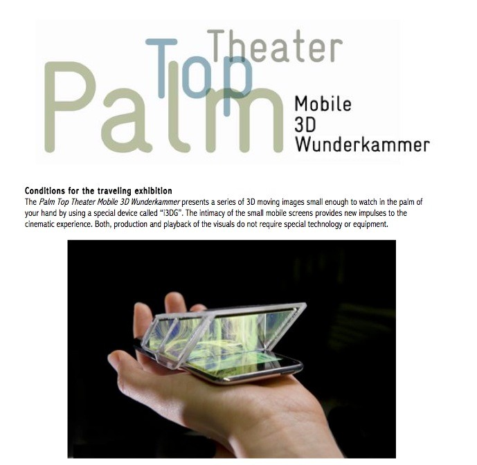Palm Top Theater exhibition and workshop information