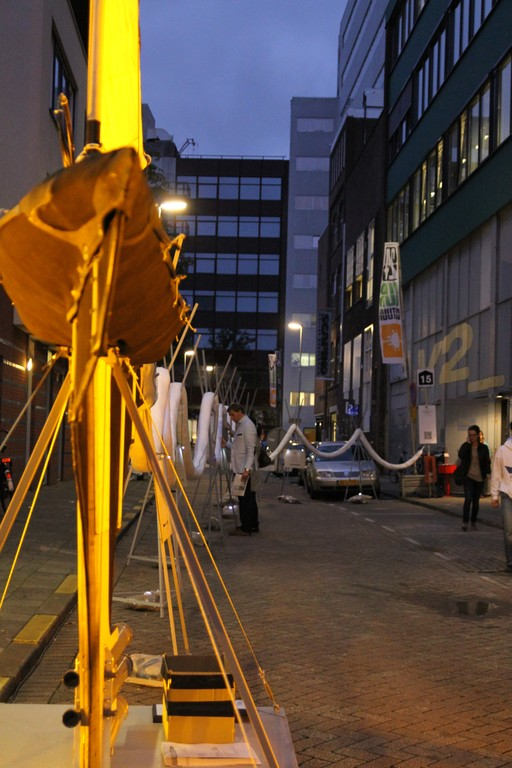 Protei_006 outside V2_ during the Wereld van Witte de With festival