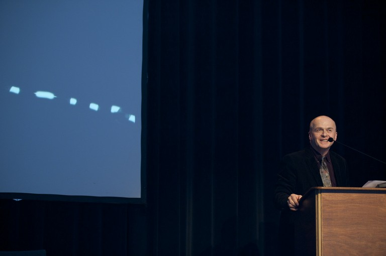 Philip Beesley during the Symposium Vital Beauty