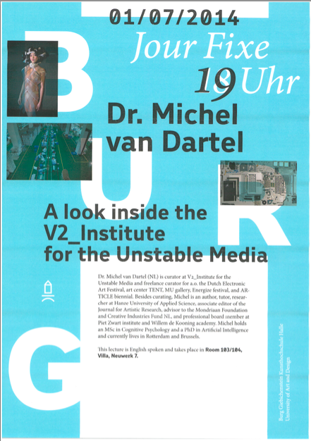 Lecture by Michel van Dartel in Halle