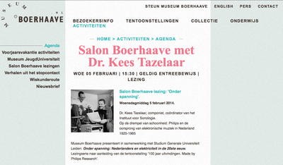 Salon Boerhaave with Kees Tazelaar