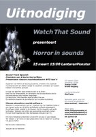 Watch That Sound presents 'Horror in Sound'